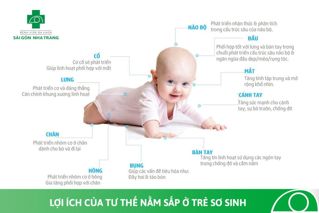 lợi ích của tư thế nằm sấp ở trẻ sơ sinh
